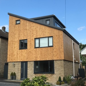 Image of a house remodelled with new timber cladding