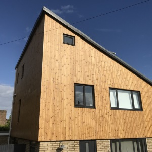 Warm Image of New Timber cladding added to Building Front